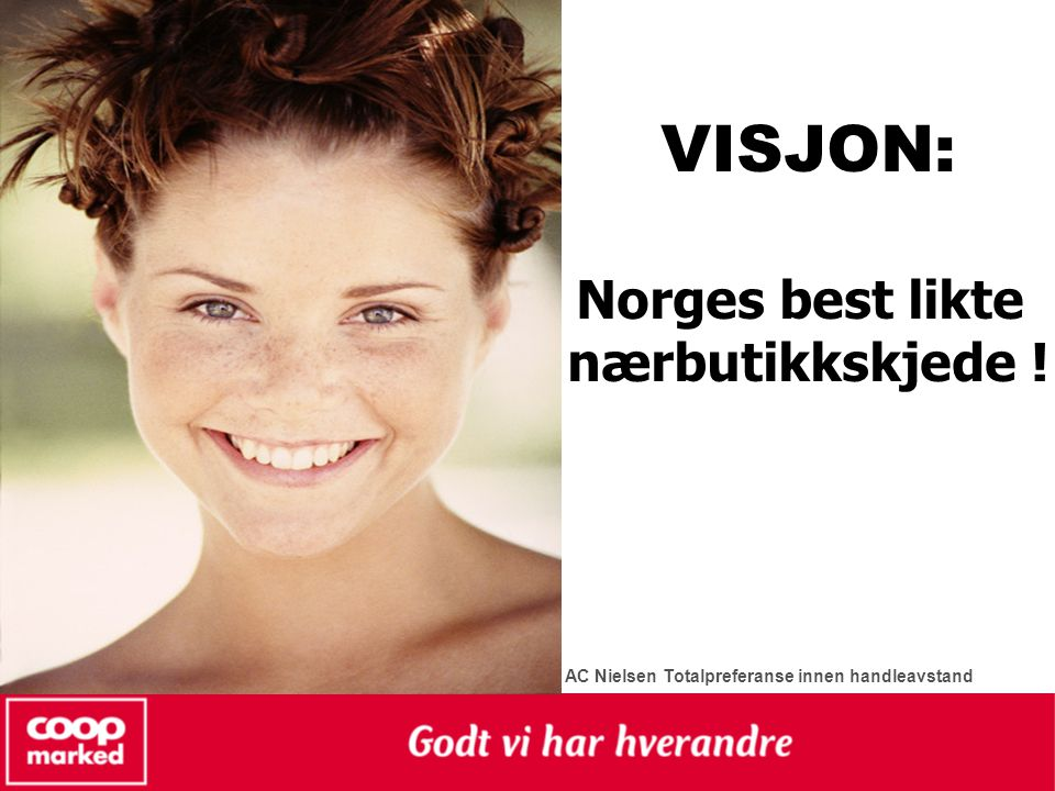VISJON: Norges best likte nærbutikkskjede !