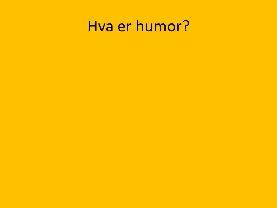 Hva er humor