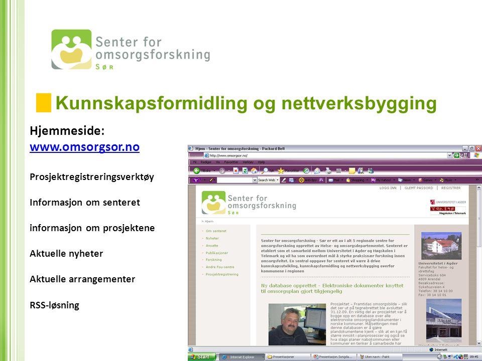 Kunnskapsformidling og nettverksbygging