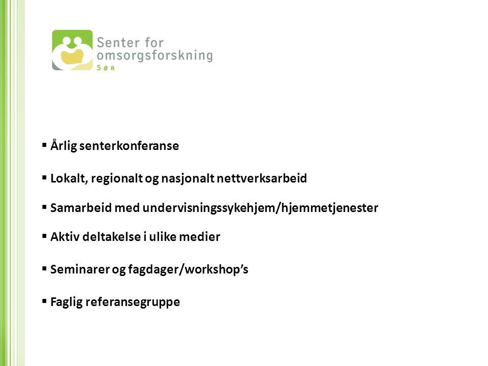 Årlig senterkonferanse Lokalt, regionalt og nasjonalt nettverksarbeid