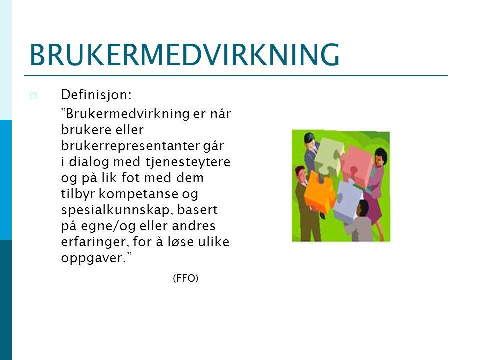 BRUKERMEDVIRKNING Definisjon: