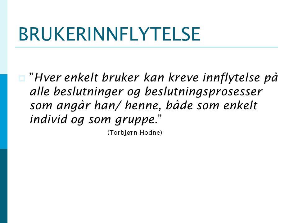 BRUKERINNFLYTELSE