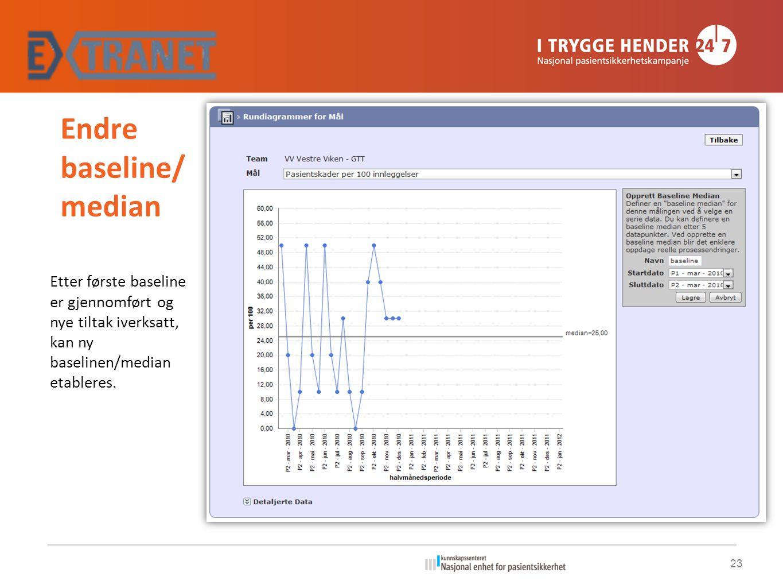 Endre baseline/median