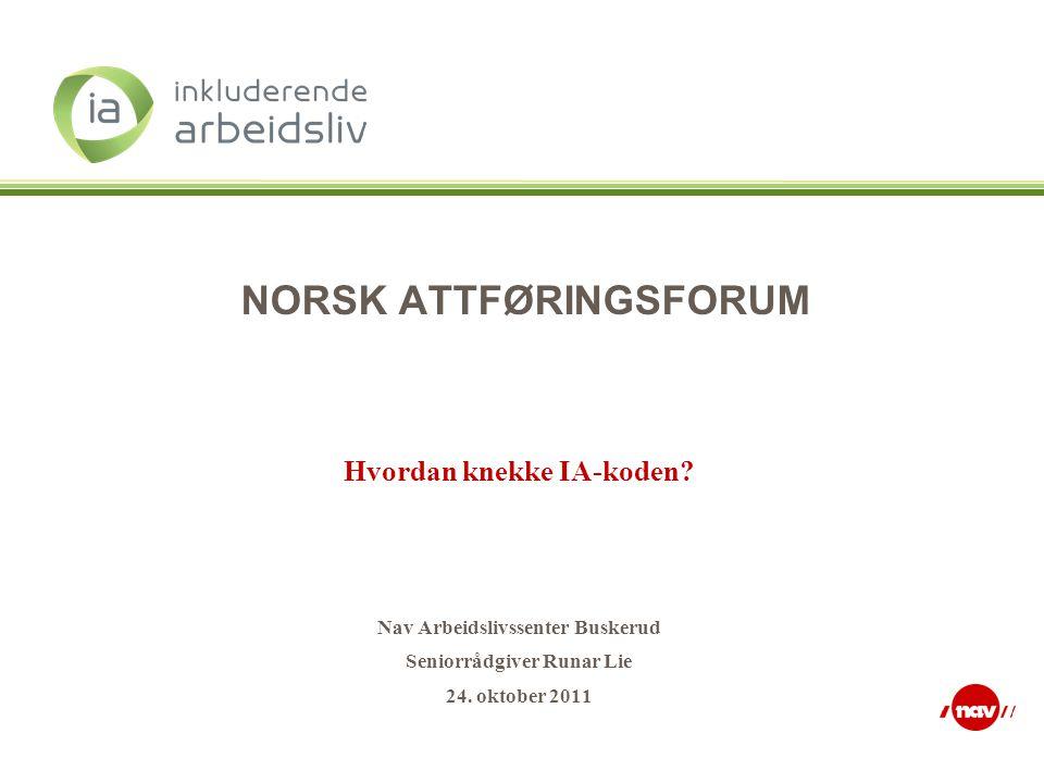 NORSK ATTFØRINGSFORUM