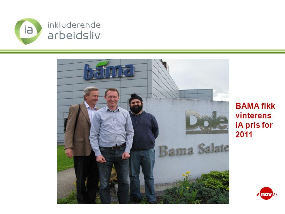 BAMA fikk vinterens IA pris for 2011