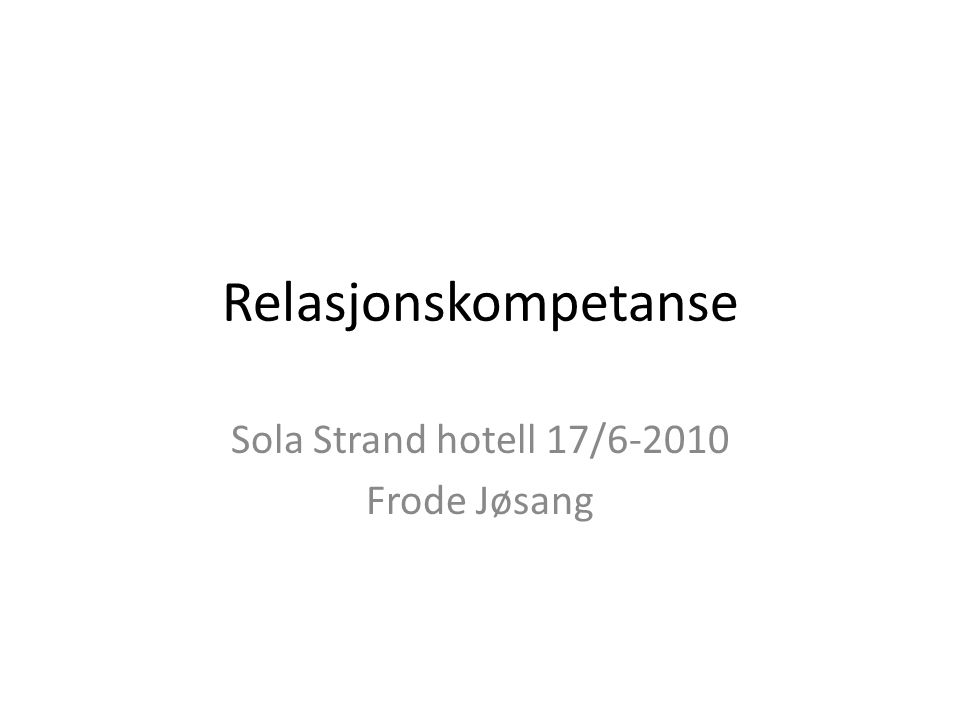 Sola Strand hotell 17/6-2010 Frode Jøsang