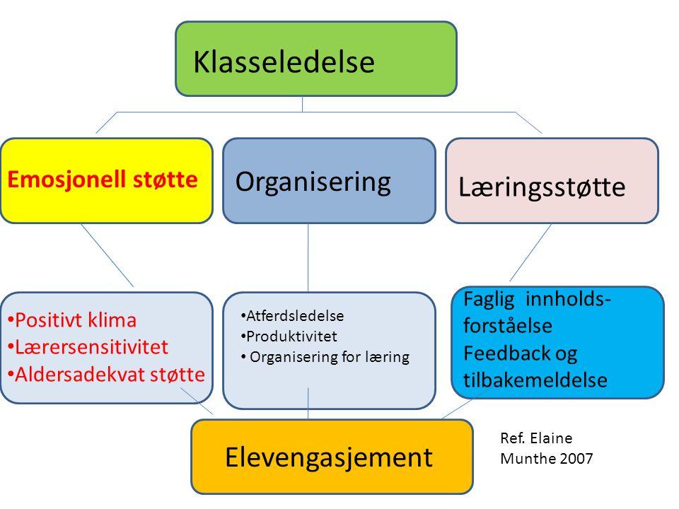 Klasseledelse Organisering Læringsstøtte Elevengasjement
