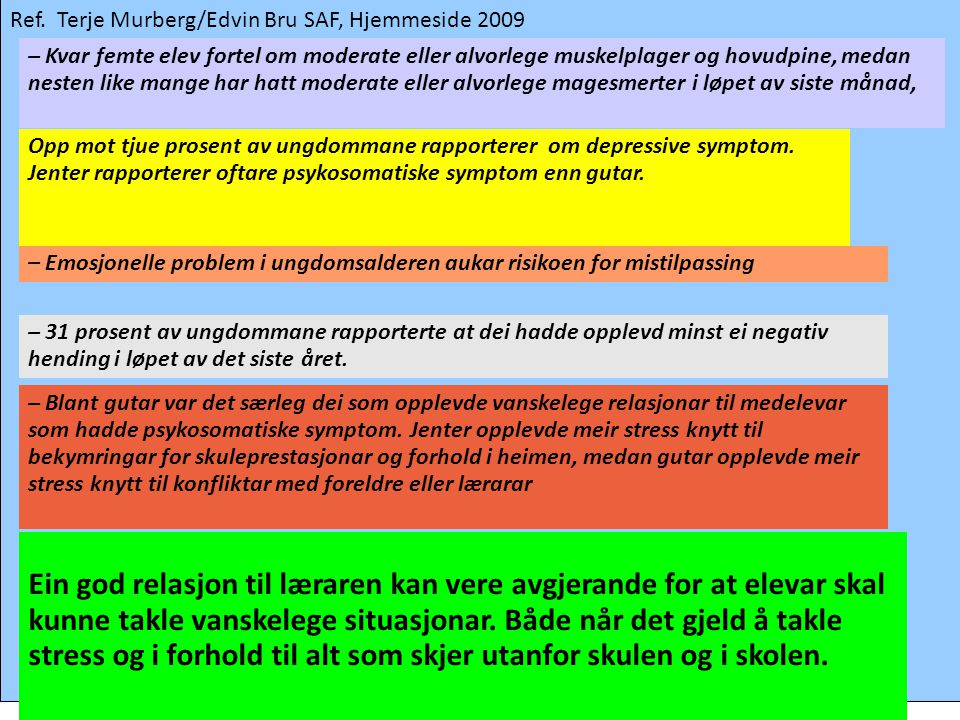 Ref. Terje Murberg/Edvin Bru SAF, Hjemmeside 2009