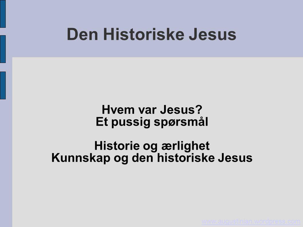 Kunnskap og den historiske Jesus
