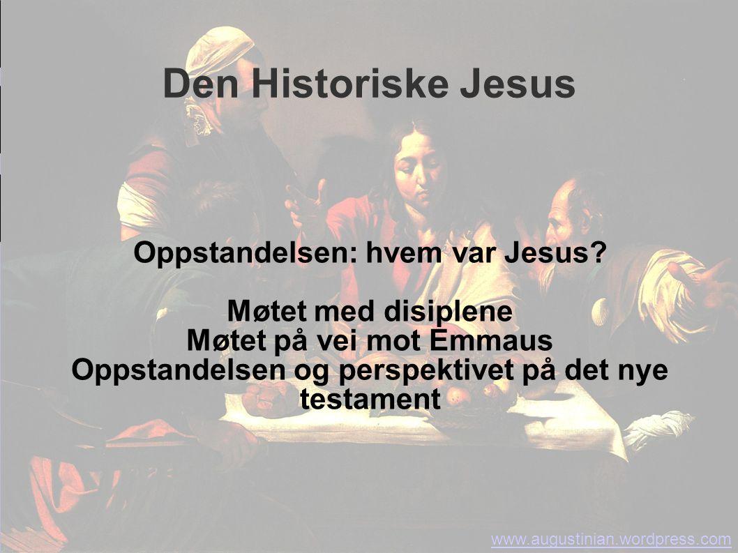 Den Historiske Jesus Oppstandelsen: hvem var Jesus