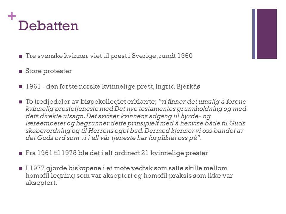 Debatten Tre svenske kvinner viet til prest i Sverige, rundt 1960