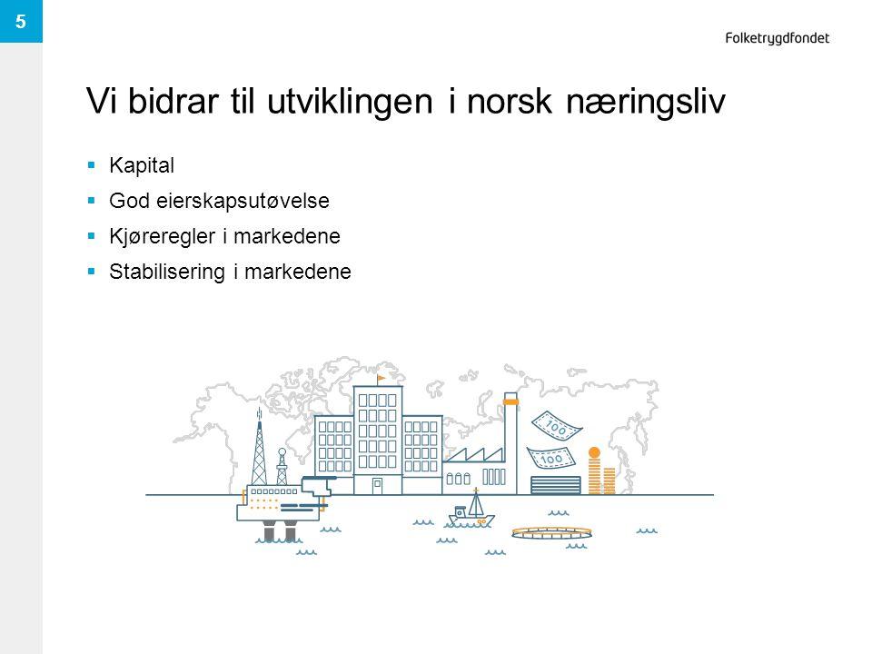 Vi bidrar til utviklingen i norsk næringsliv