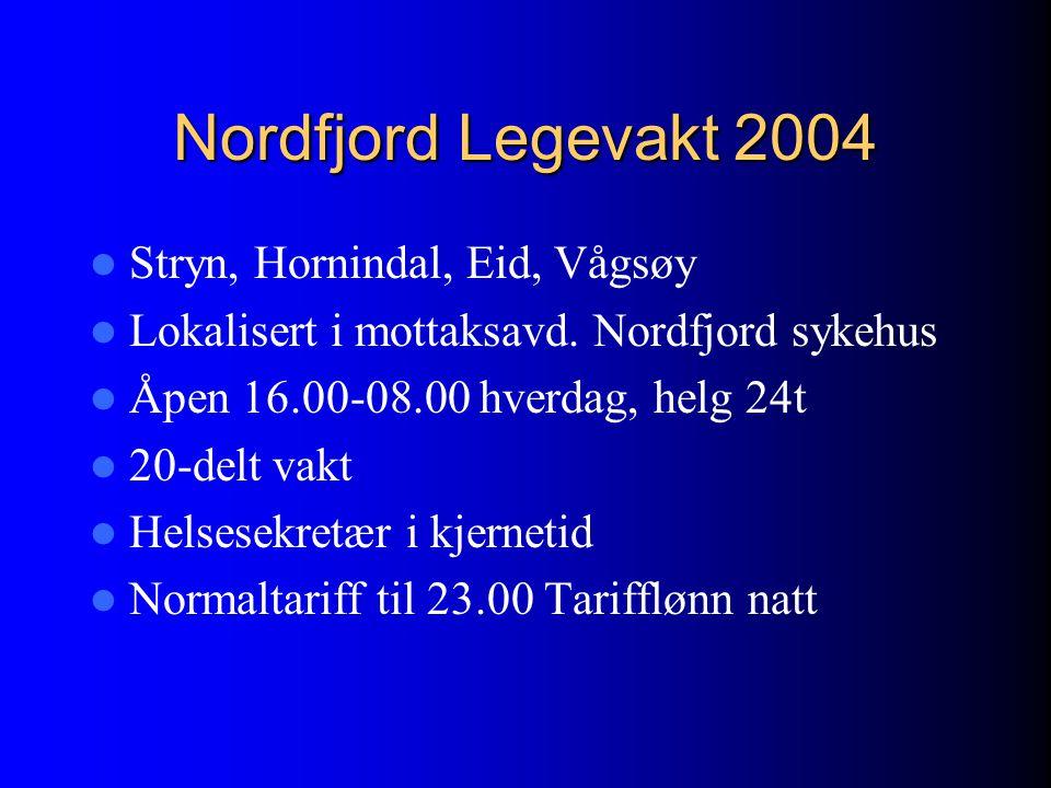 Nordfjord Legevakt 2004 Stryn, Hornindal, Eid, Vågsøy
