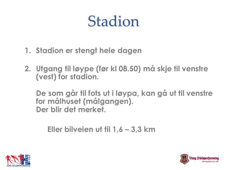 Stadion Stadion er stengt hele dagen