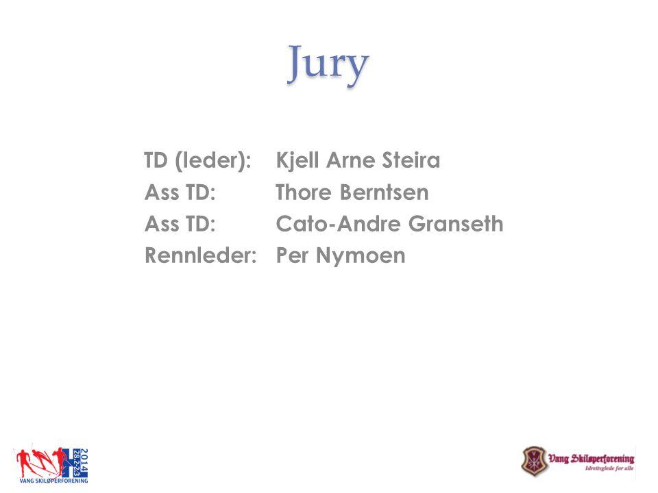 Jury TD (leder): Kjell Arne Steira Ass TD: Thore Berntsen Ass TD: Cato-Andre Granseth Rennleder: Per Nymoen