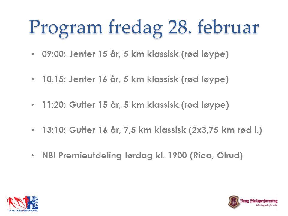 Program fredag 28. februar