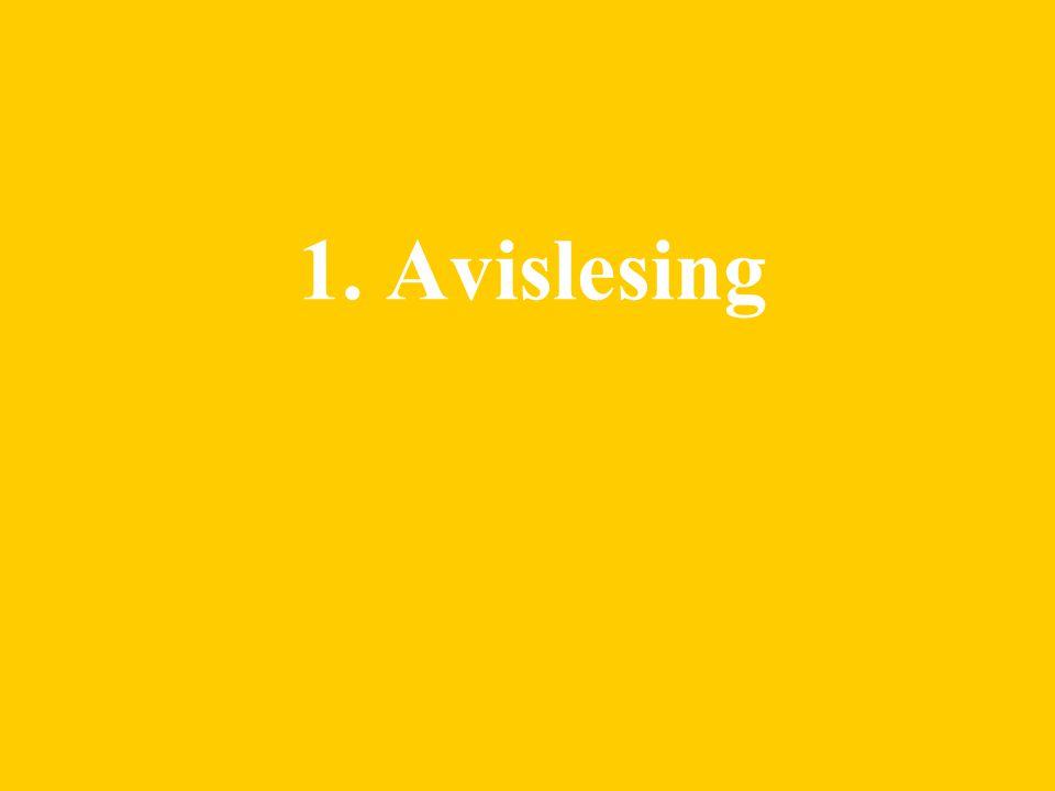 1. Avislesing
