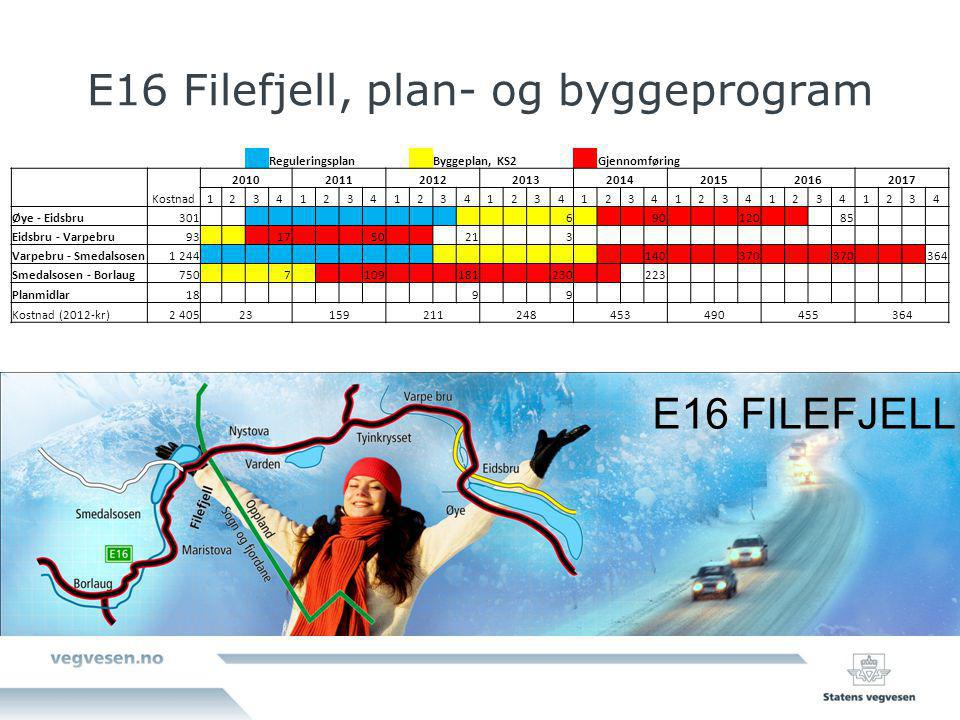 E16 Filefjell, plan- og byggeprogram