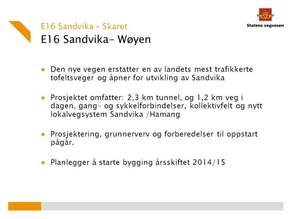 E16 Sandvika- Wøyen E16 Sandvika - Skaret