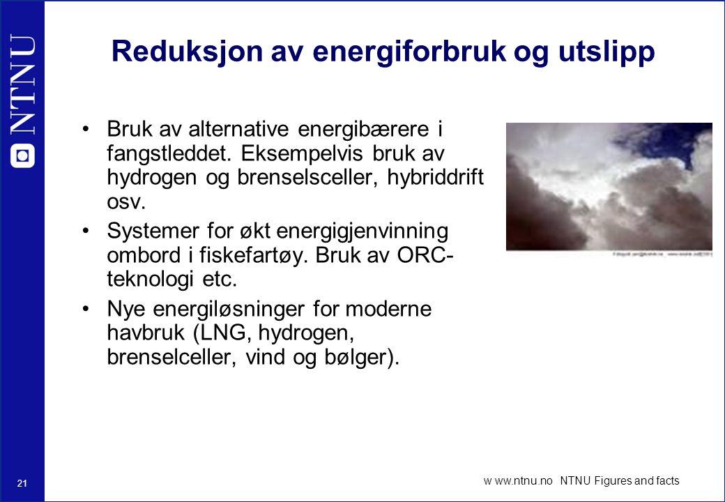 Reduksjon av energiforbruk og utslipp