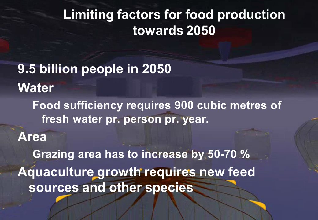 Limiting factors for food production towards 2050