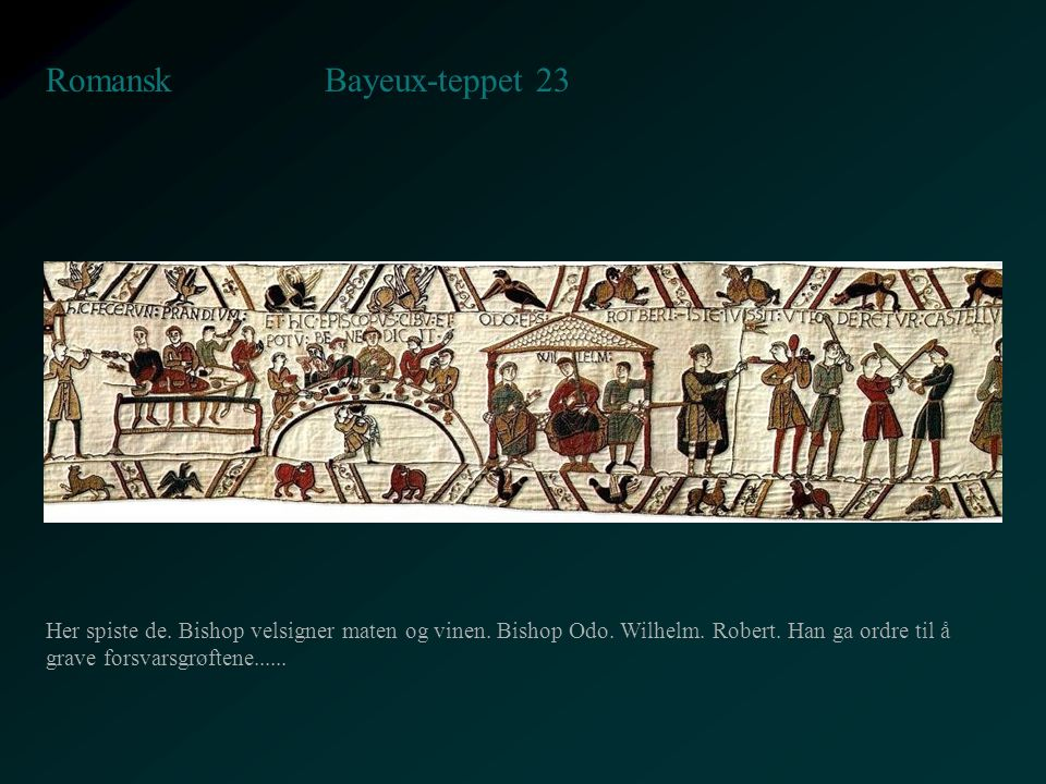 Bayeux-teppet 23 Romansk