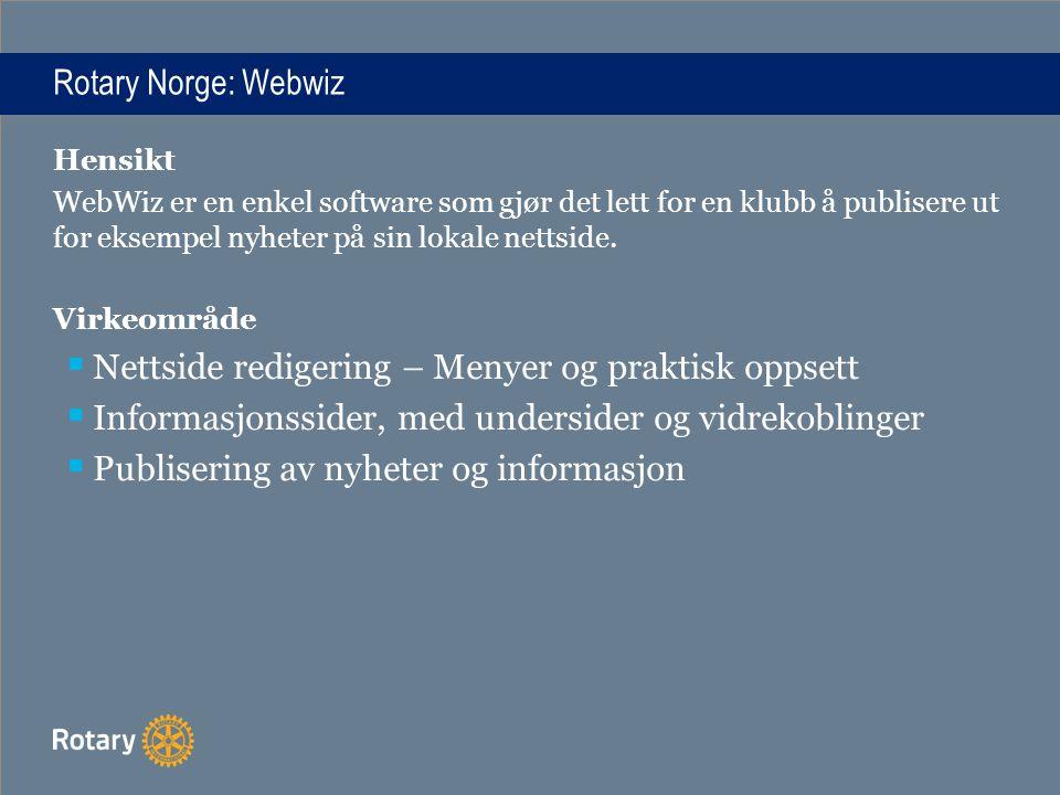 Nettside redigering – Menyer og praktisk oppsett