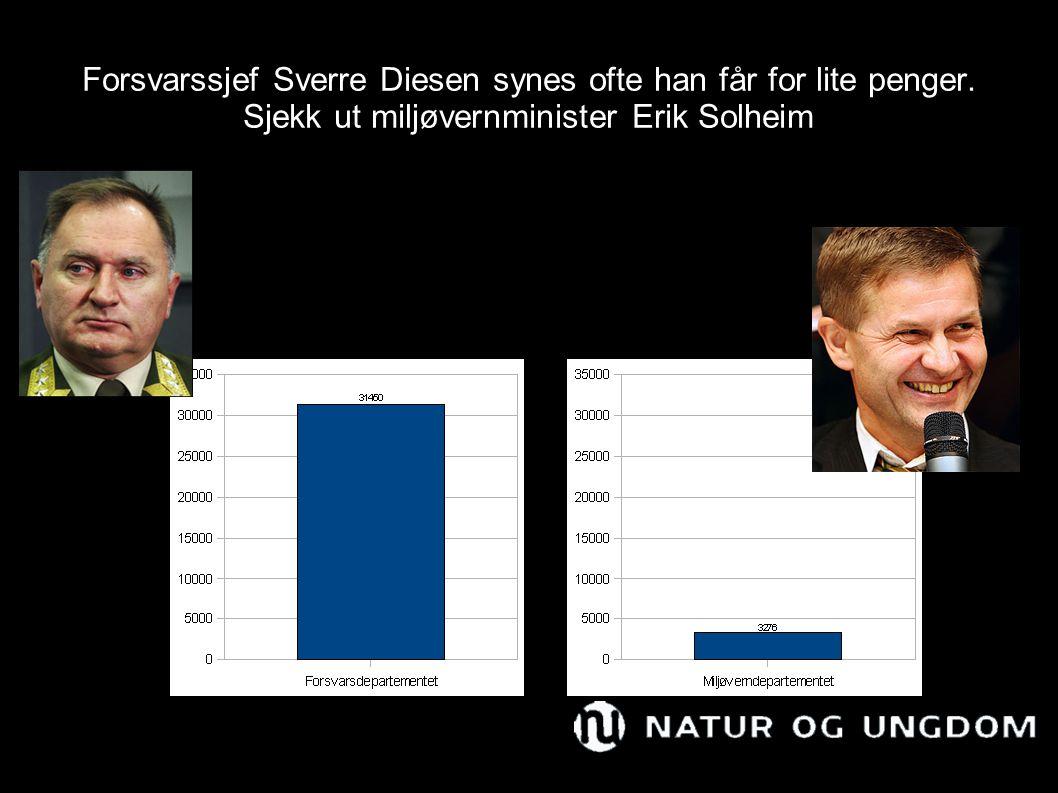 Forsvarssjef Sverre Diesen synes ofte han får for lite penger