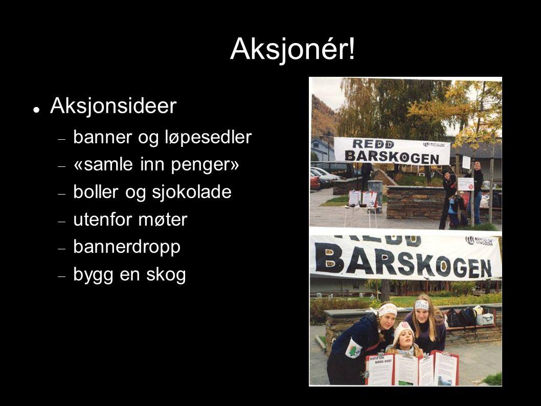 Aksjonér! Aksjonsideer banner og løpesedler «samle inn penger»