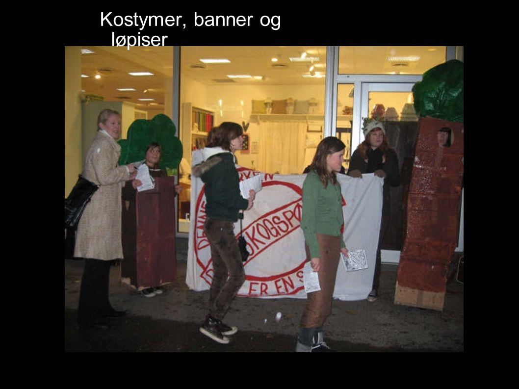 Kostymer, banner og løpiser