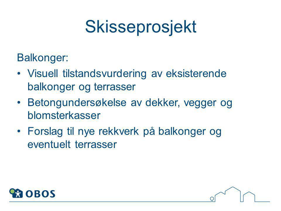 Skisseprosjekt Balkonger: