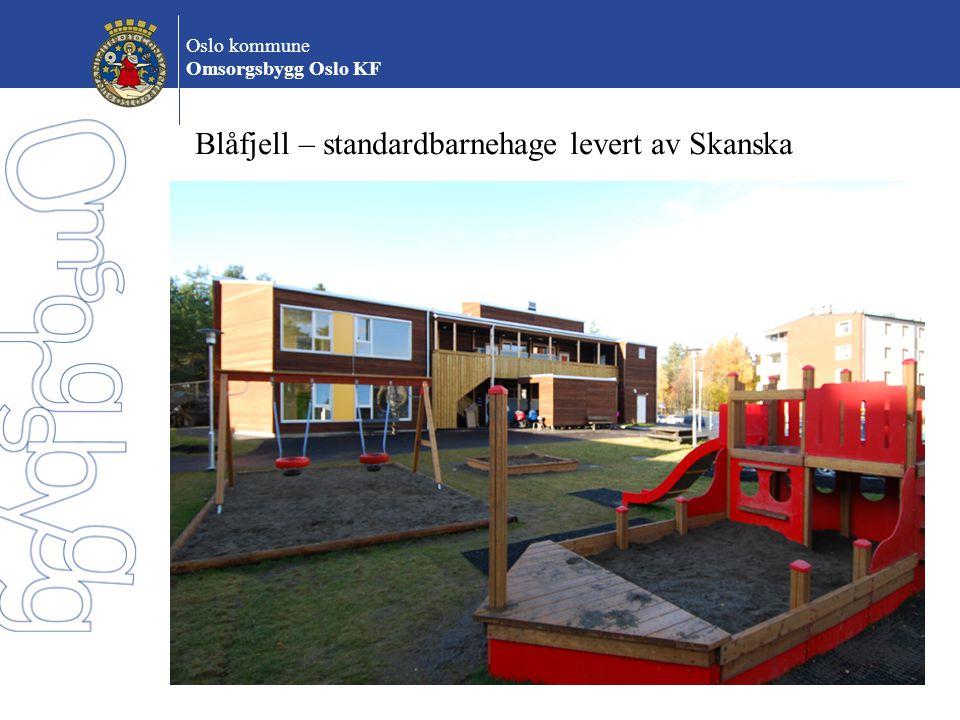 Blåfjell – standardbarnehage levert av Skanska