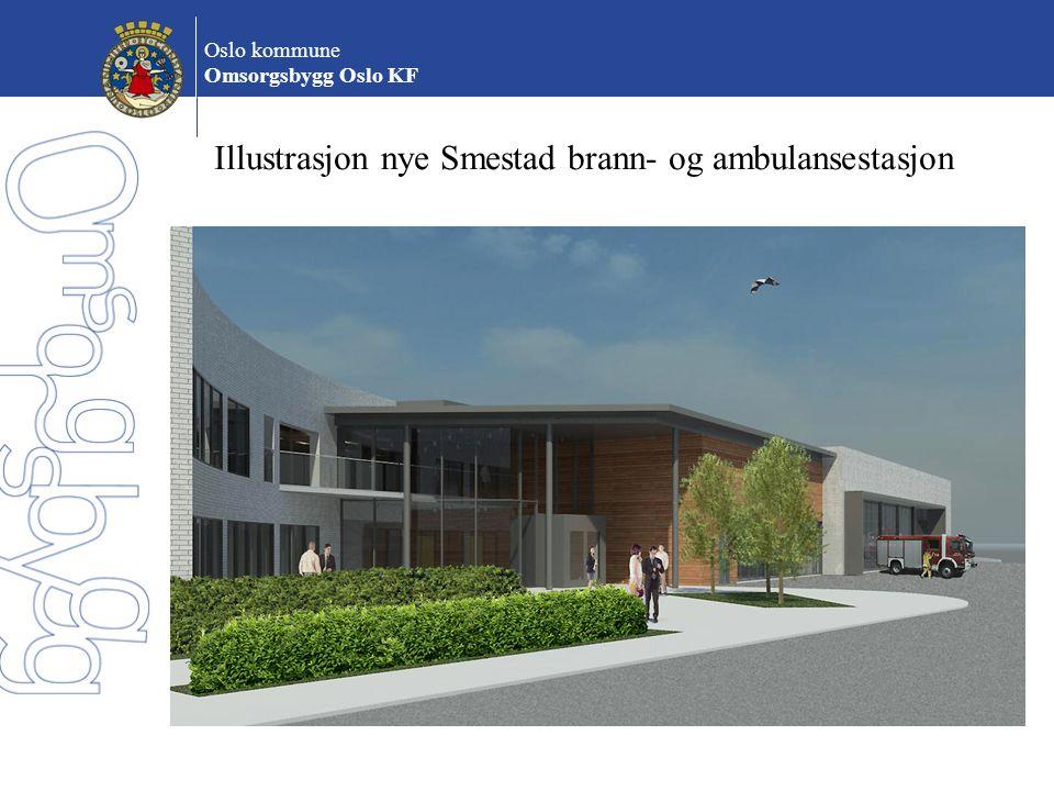 Illustrasjon nye Smestad brann- og ambulansestasjon