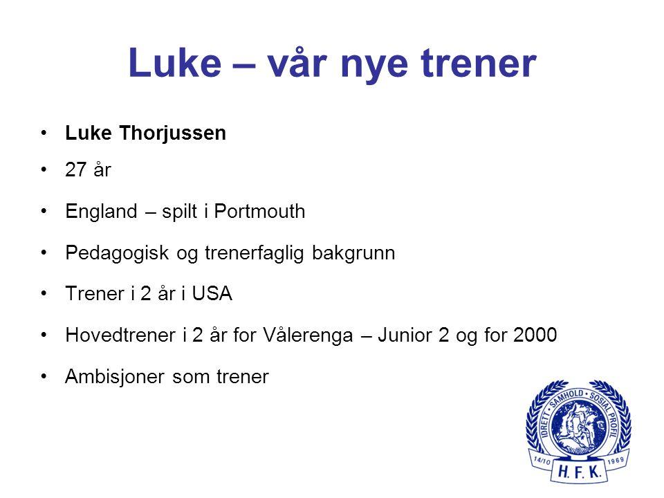 Luke – vår nye trener Luke Thorjussen 27 år