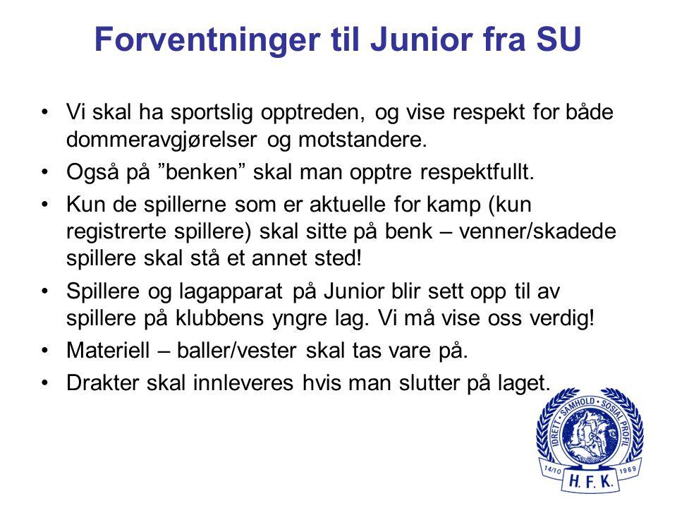 Forventninger til Junior fra SU
