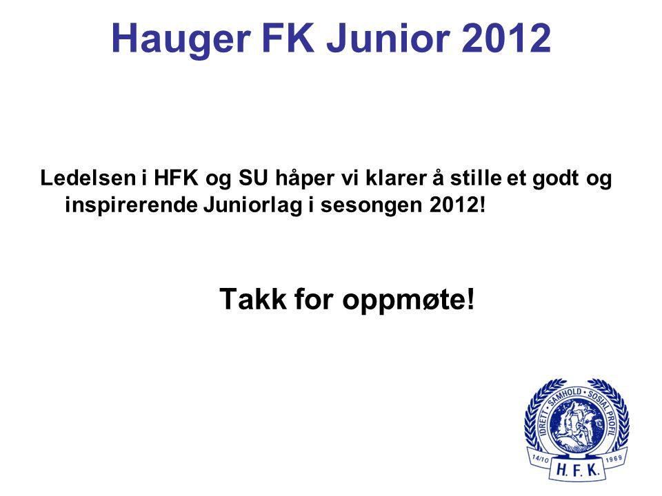 Hauger FK Junior 2012 Takk for oppmøte!
