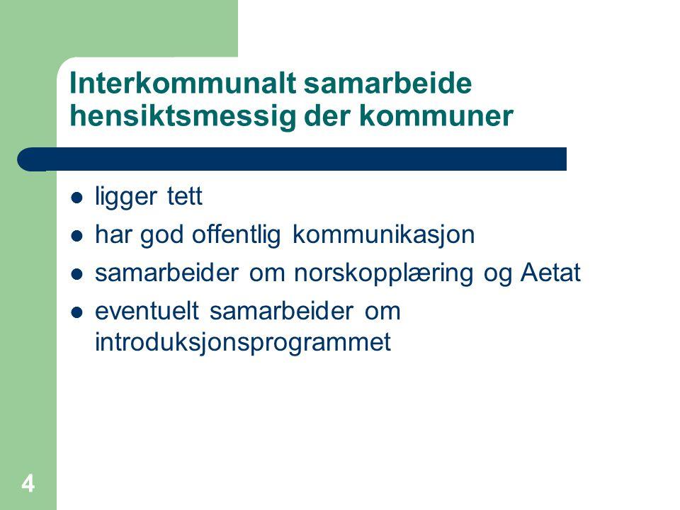 Interkommunalt samarbeide hensiktsmessig der kommuner