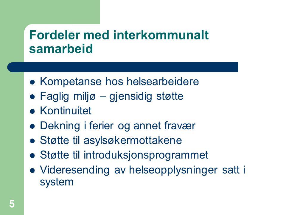 Fordeler med interkommunalt samarbeid