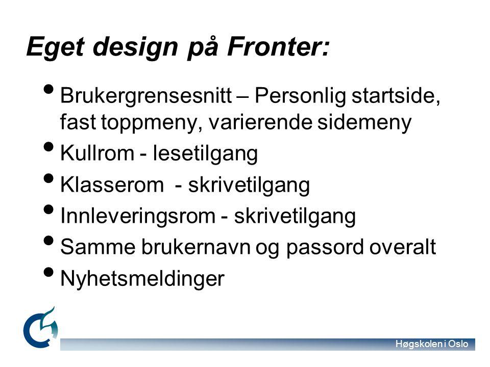 Eget design på Fronter: