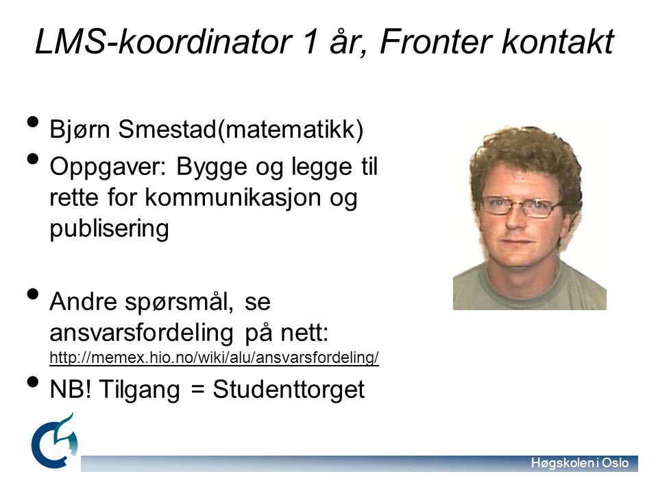 LMS-koordinator 1 år, Fronter kontakt