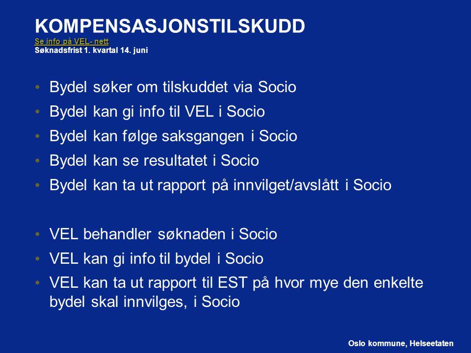 KOMPENSASJONSTILSKUDD Se info på VEL- nett Søknadsfrist 1. kvartal 14
