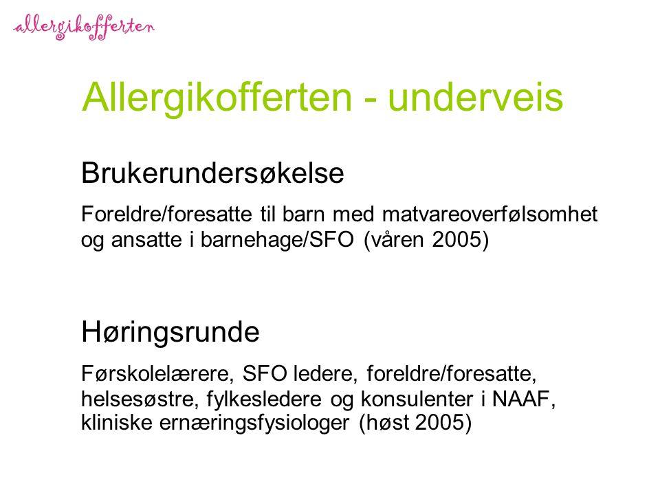 Allergikofferten - underveis