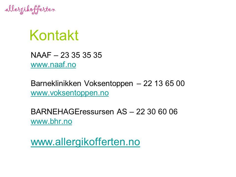 Kontakt NAAF – 23 35 35 35 www.naaf.no