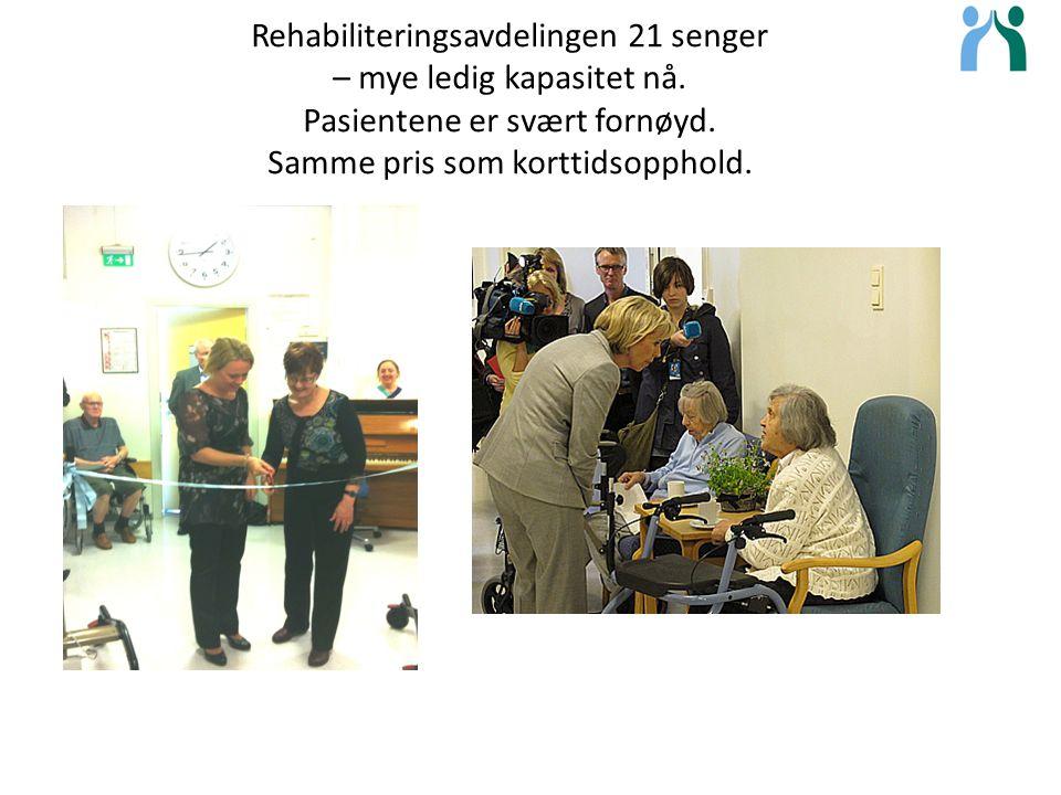 Rehabiliteringsavdelingen 21 senger – mye ledig kapasitet nå