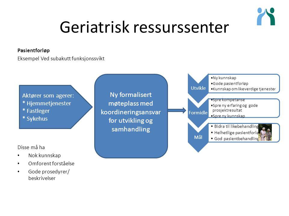 Geriatrisk ressurssenter