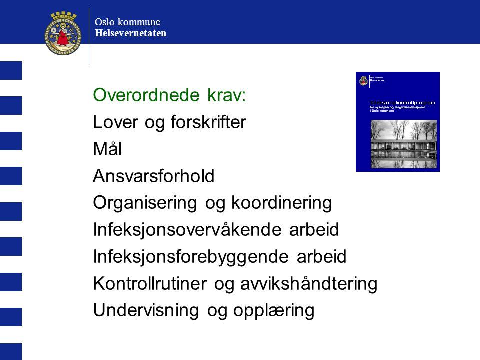 Organisering og koordinering Infeksjonsovervåkende arbeid