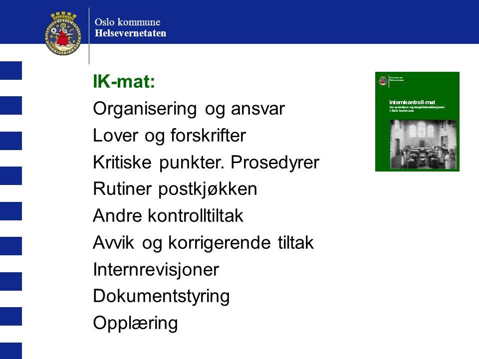 Organisering og ansvar Lover og forskrifter