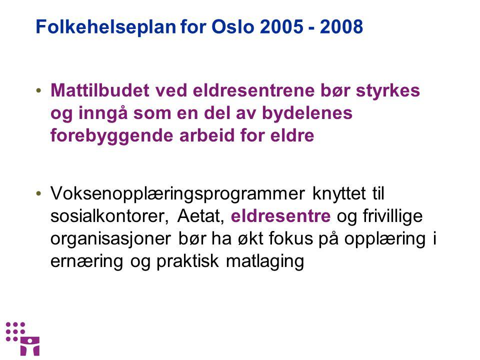 Folkehelseplan for Oslo 2005 - 2008