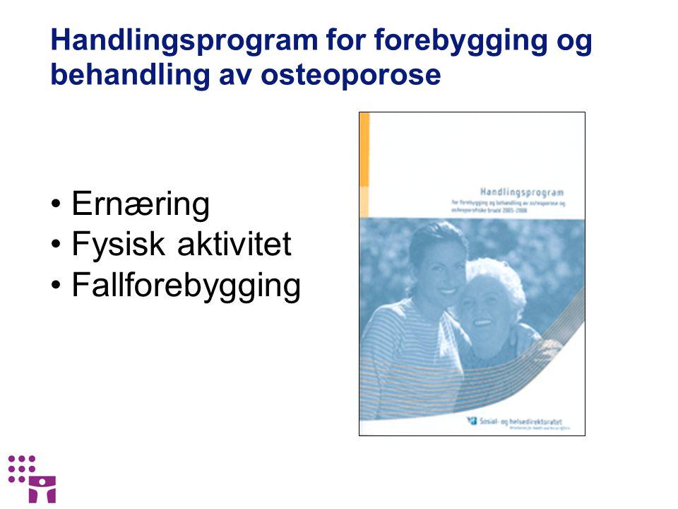 Handlingsprogram for forebygging og behandling av osteoporose