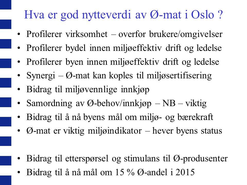 Hva er god nytteverdi av Ø-mat i Oslo